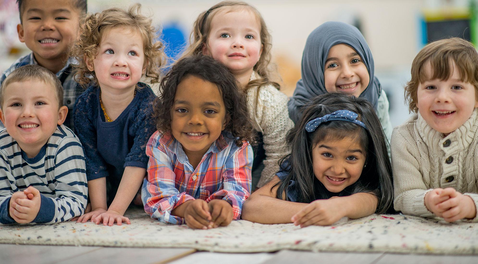 group of children in preschool